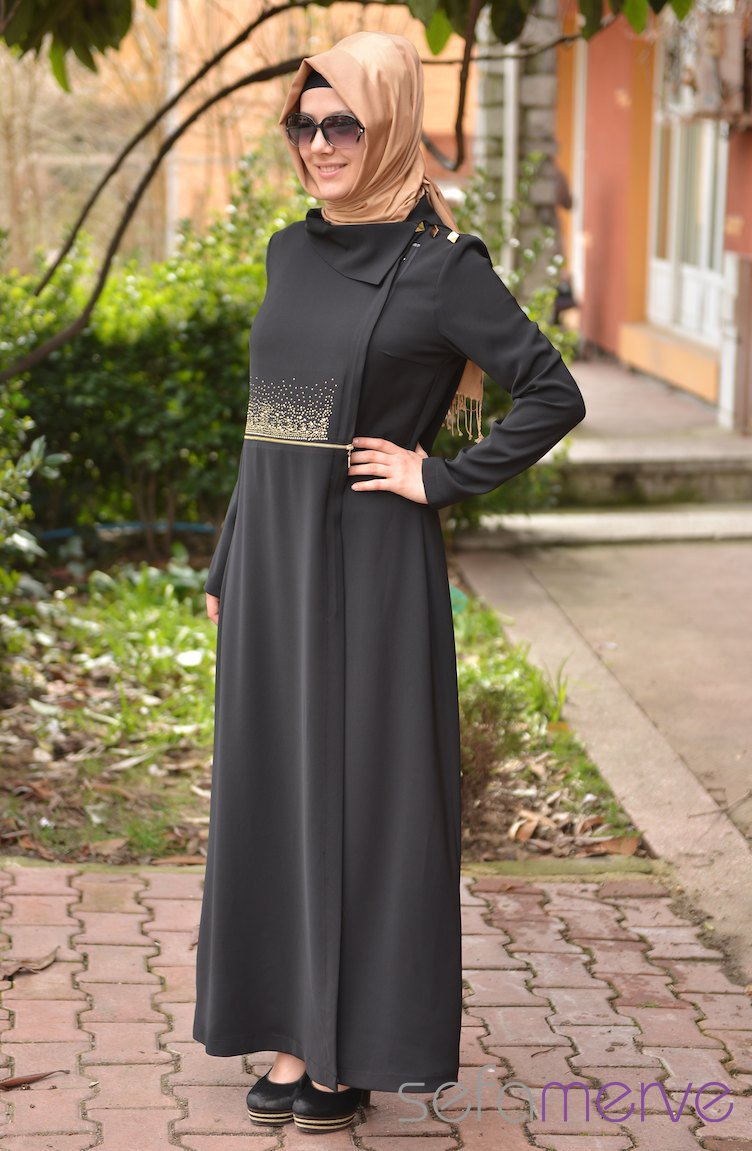 Last And Stylish Turkish Abaya By Sefamerve 2013 2013