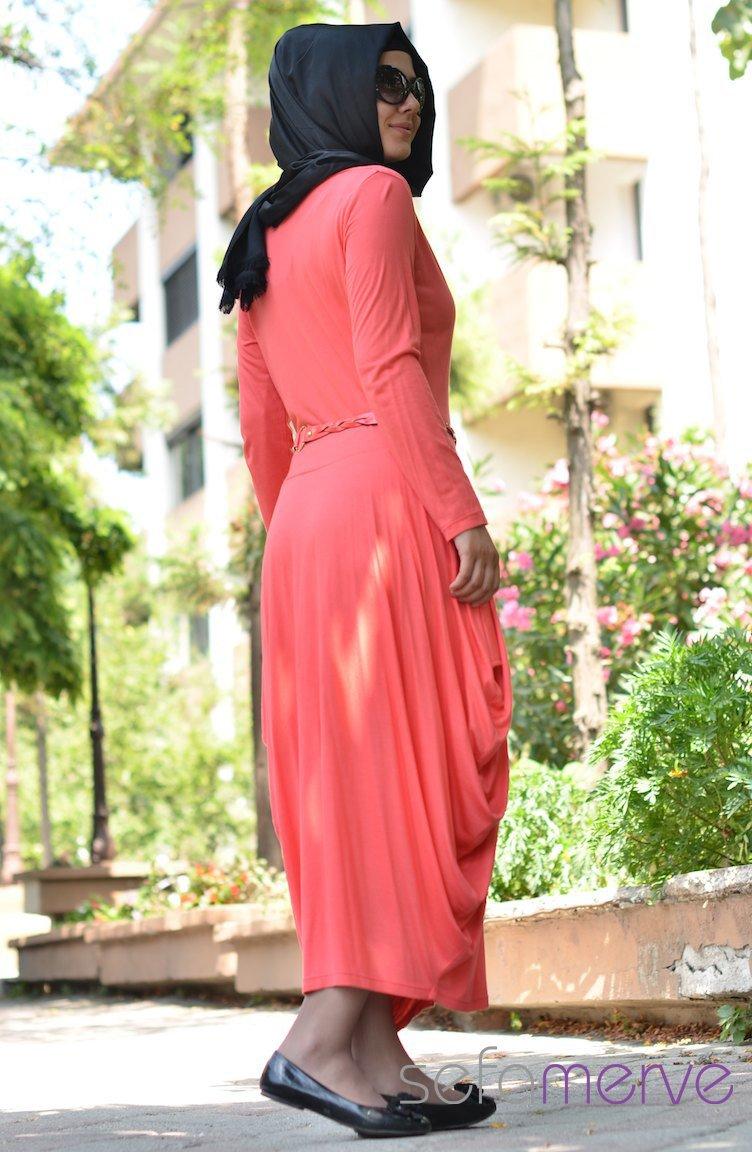 Sefamerve yazlık uzun kollu elbise 01
